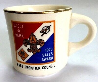 Boy Scout Collectible Mug Last Frontier Council Scout O Rama 1970 Oklahoma BSA