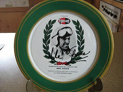 Tin Plate Mike Spence Lotus Coventry Climax Brands Hatch 1965 Blechteller