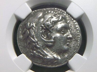 Alexander III The Great Silver Tetradrachm 336-323 NGC Ch VF  4001