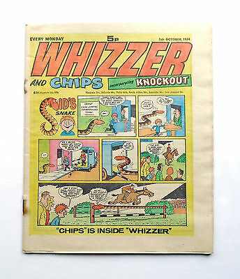 Whizzer and Chips incorporating Knockout 5th October 1974 – IPC Magazines Ltd