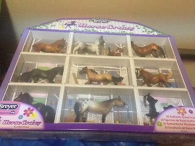 Breyer Stablemates Horse Crazy Collection 10 Authentic Breed Sculptures NEW