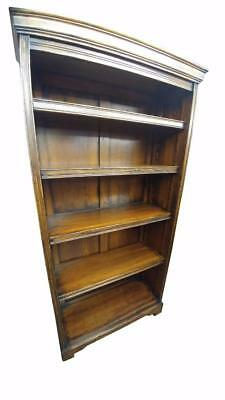 English Hand Made Solid Oak Open Bookcase