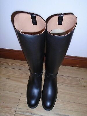 Sanders And Sanders Ltd Regent Black Leather Riding Boots Mounted Regiments Uk 9