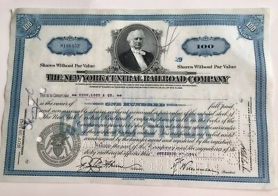The New York Central Railroad Company...stock Certificate...