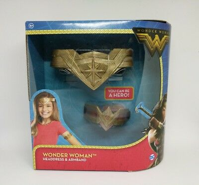 DC Comics Wonder Woman Headdress and Arm Band Costume set
