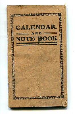 1925 Calendar and Note Book, Male Sex Advice Treatment