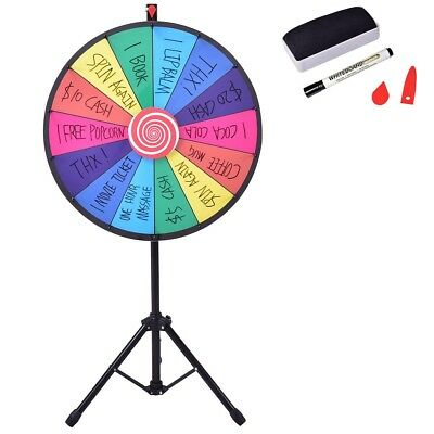 """24"""" Color Prize Wheel of Fortune Dry Erase Trade Show Spinning Game Toy US"""