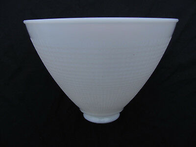 "Vintage Corning 8"" Waffle Pattern Milk Glass Lamp Torchiere Shade Diffuser 2 1/4"