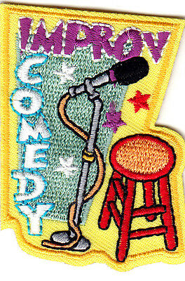 IMPROV COMEDY Iron On Patch Comedy Acting Stage