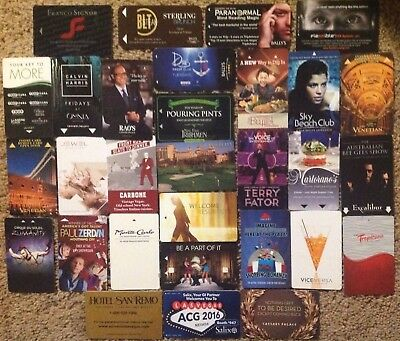 LAS VEGAS Room KEYS Casino Hotel - LOT of 30 - ALL Different ~I Combine Shipping