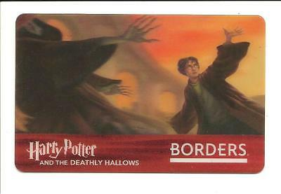 Borders Harry Potter Deathly Hallows Lenticular Gift Card No $ Value Collectible