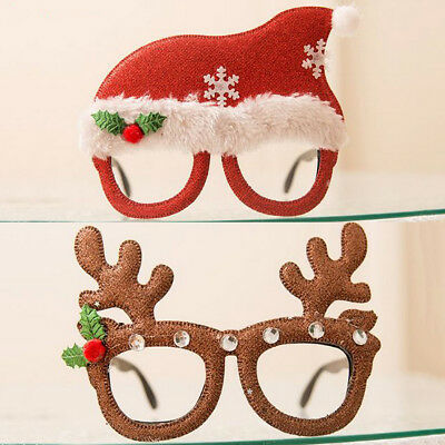 Adult Child Christmas Xmas Party Fun Novelty Santa Reindeer Glasses Fancy Dress