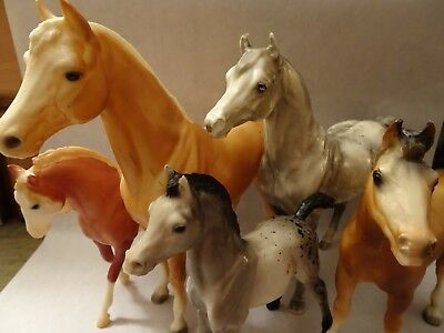 Mixed Lot Of 5 Breyer Horses, Clydesdale, Appaloosa Foal, More