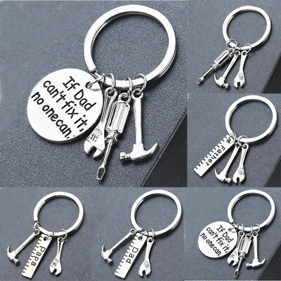 Charm Wrench Hammer Tools Keyring If Dad Can't Fix It, No one Can Key Chain Gift