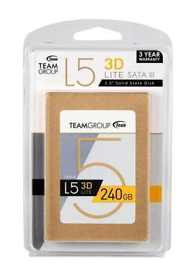 "New - Team Group L5 LITE 3D NAND 240GB 2.5"" SATA III Internal Solid State Drive"