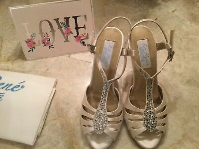 Liz Rene Couture Bliss Dress Sandal wedding shoes size 7.5