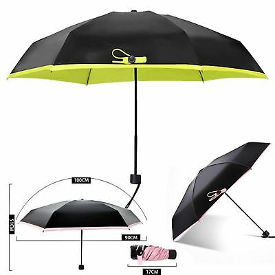 Folding Anti UV Rain Sun Lightweight Compact Umbrella Windproof Parasol