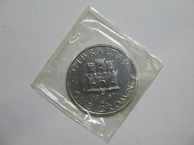 Gibraltar 1967 One Crown Castle Key Proof Silver Unc World Coin Collection Lot