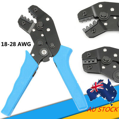 AU AWG28-18 SN-28B Cables Pliers Cutter Crimping Crimper Terminals 0.1-1.0mm²