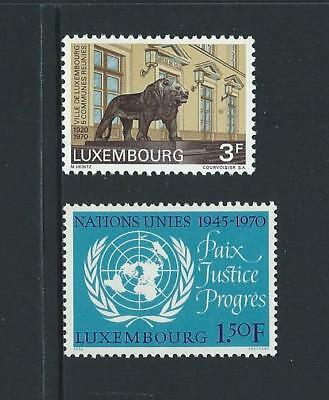 1970 LUXEMBOURG City Anniversary & United Nations Issues MNH (Scott 493-494)