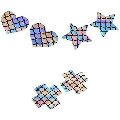 2/3/4 Pair Adhesive Breast Nipple Cover Sticker Bra Pad Patch Disposable Mermaid