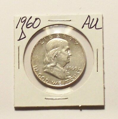 1960-D  Franklin Half Dollar in Almost Uncirculated condition AU
