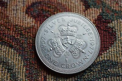 1977 british silver jubilee crown isle of man