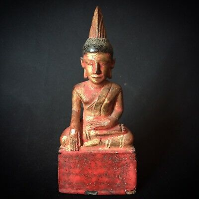 Buddha Asia  Thailand Chiengsaen Laos ANTIQUE BUDDHA  STATUE FIGURE OLD