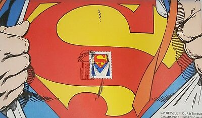 2013 Canada Superman Souvenir Official First Day Cover ( 1 Stamp )