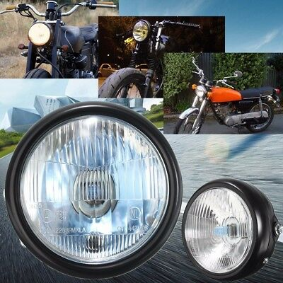AU 6'' inch Retro Metal Motorcycle Front Headlight Head Lamp For Harley GN125