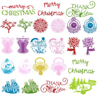 Christmas Series Metal Cutting Dies Stencil DIY Scrapbooking Paper Cards Craft