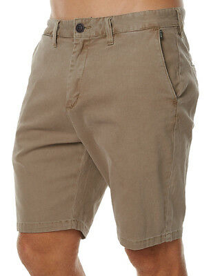 "New + Tag Billabong Mens Size 34"" New Order Twill Walk Shorts Stretch Khaki"