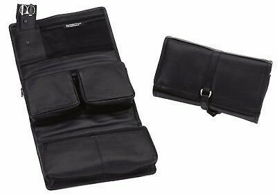 Hans Kniebes Toiletry Bag to Hang Up Toiletry Bags incl. Manicure Case Leather