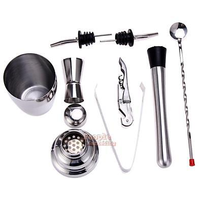 8pcs Stainless Steel Cocktail Shaker Mixer Drink Bartender Wine DIY Tools Kit
