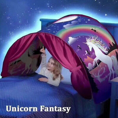 Dream Tents Unicorn Fantasy Foldable Tent Outdoor Kids Baby Play Tent House B2z