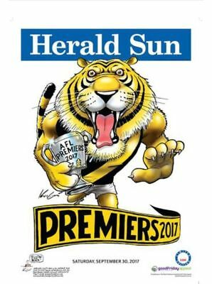 Richmond Tigers 2017 Afl Limited Edition Premiership Poster Mark Knight Weg #637
