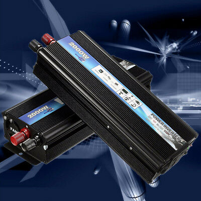Electronic Car Power Inverter DC 12V to AC 220V Adapter Converter 2000W 3000W OP