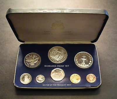 1975 Barbados 8-Coin Proof Set with 1.927 oz of silver - Franklin Mint