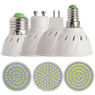 GU10 MR16 E14 E27 LED 110V 220V Spotlight Energy Saving Bulb Lamp 2835 SMD