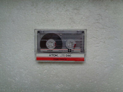Vintage Audio Cassette TDK D 60 From 1985 - Fantastic Condition !!