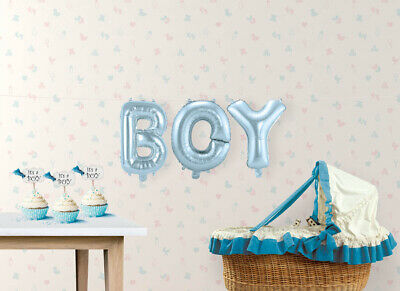 Ballon-Set Boy Folienballon Babyparty Babyshower Partydekoration Deko