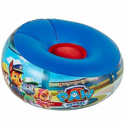 Paw Patrol Junior Inflatable Chair Flocked Seat Kids Childrens Boys