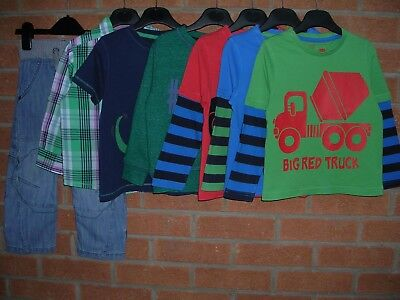 NEXT + TU Boys Bundle T-Shirts Jeans Tops Jumper Age 2-3 98cm Dinosaur Trucks