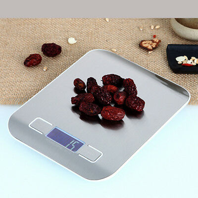 10kg 5kg Stainless Steel Electronic Kitchen Scale Food Weighing Postal Scales HY