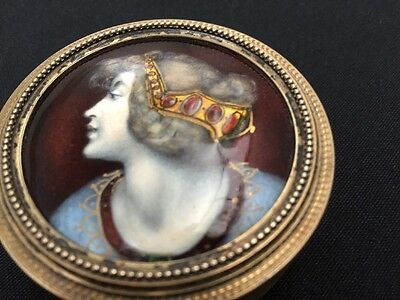 French Silver And Enamel Art Noveaux Pill Box Round