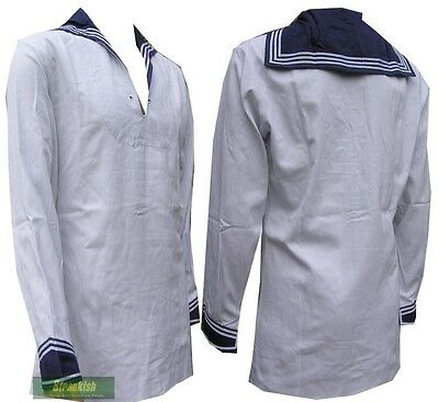 GERMAN NAVY SAILORS MIDDY TOP in WHITE