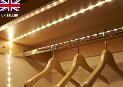 Battery Operated, 1M Long, 30 LED Flexible Self Adhesive Strip Light,Warm White