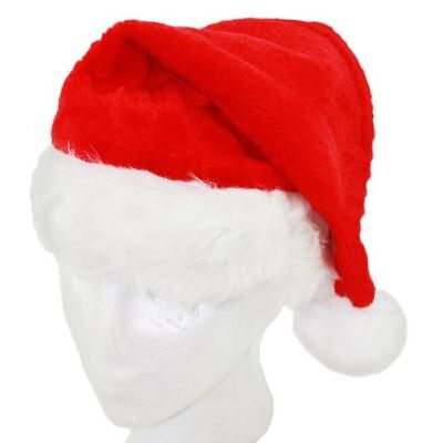 Adult's Father Christmas Deluxe Santa Claus Hat Fancy Dress Costume Accessory