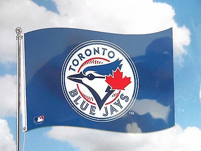 Official TORONTO BLUE JAYS MLB 3x5ft (90x150cm) Baseball NEW Canada Sealed Pack