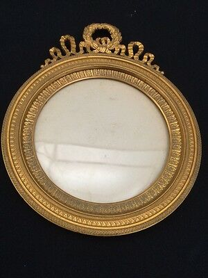 Exellent Antique French Dore Bronze Picture Frame Empire Style